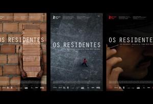 os residentes três cartazes